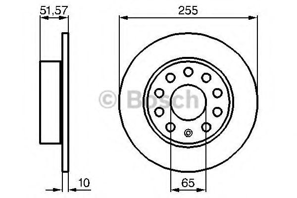 Тормозной диск BOSCH арт. 0986479099