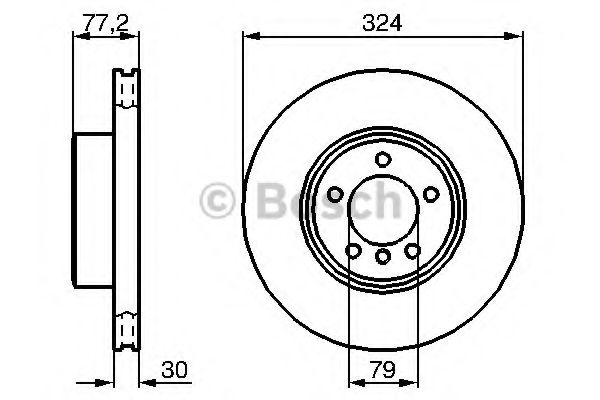 Тормозной диск BOSCH арт. 0986479115