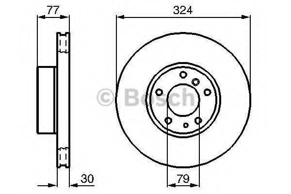 Диск гальмівний Bosch 0986479116