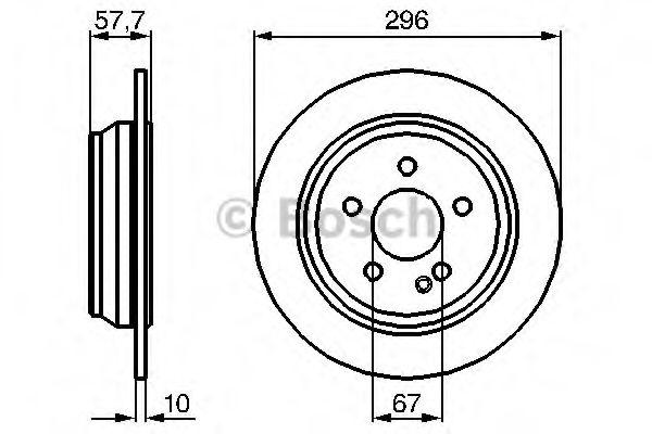 Тормозной диск BOSCH арт. 0986479138