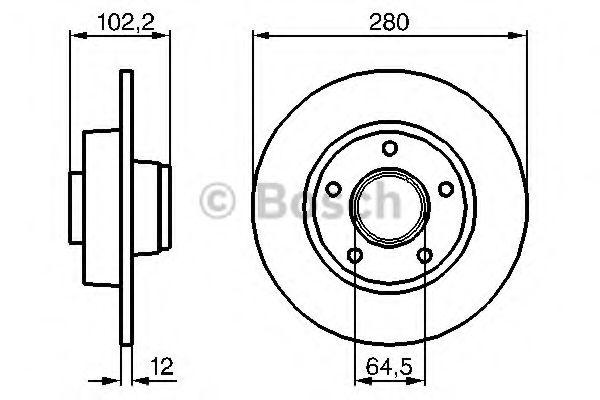 Тормозной диск BOSCH арт. 0986479144
