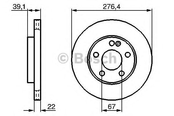 Тормозной диск BOSCH арт. 0986479186