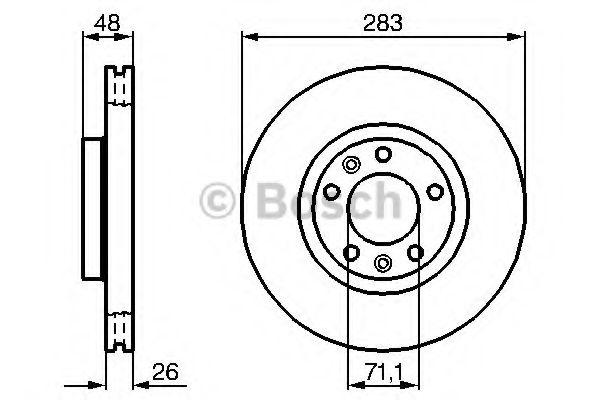 Диск гальмівний Bosch 0986479193