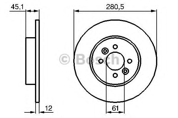 Диск гальмівний Bosch 0986479195