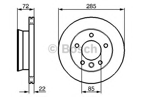 Диск гальмівний Bosch 0986479212