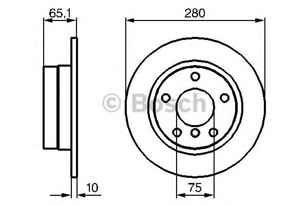Тормозной диск BOSCH арт. 0986479217