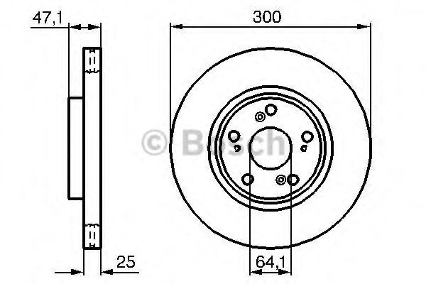 Тормозной диск BOSCH арт. 0986479227