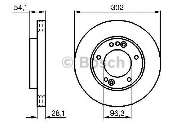 Диск гальмівний Bosch 0986479230