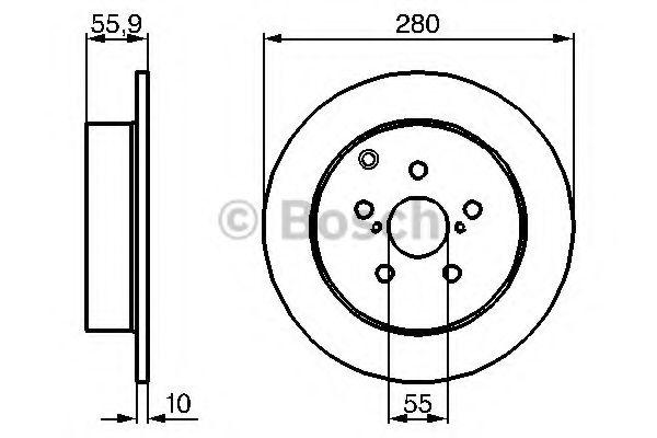 Диск гальмівний Bosch 0986479242