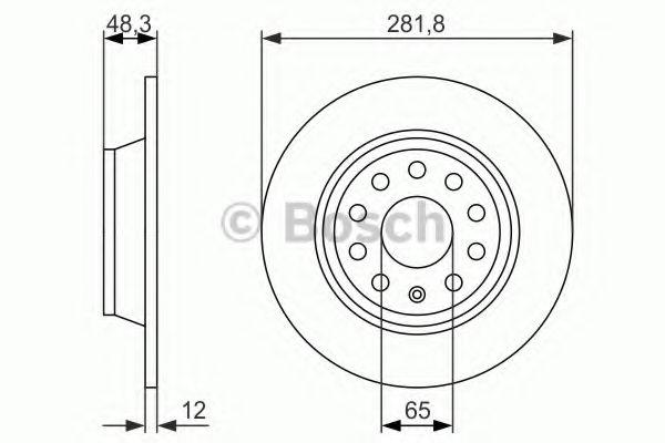 Тормозной диск BOSCH арт. 0986479247
