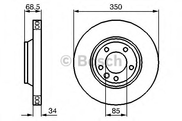 Тормозной диск BOSCH арт. 0986479249
