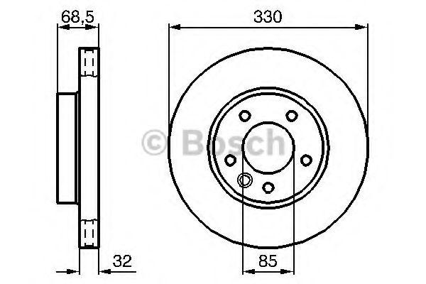 Тормозной диск BOSCH арт. 0986479250