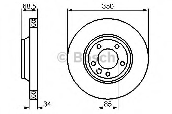 Тормозной диск BOSCH арт. 0986479251