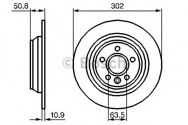 Тормозной диск BOSCH арт. 0986479254