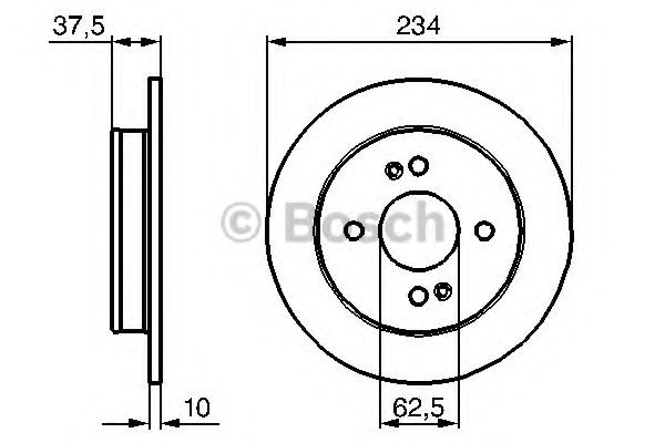Диск гальмівний Bosch 0986479256