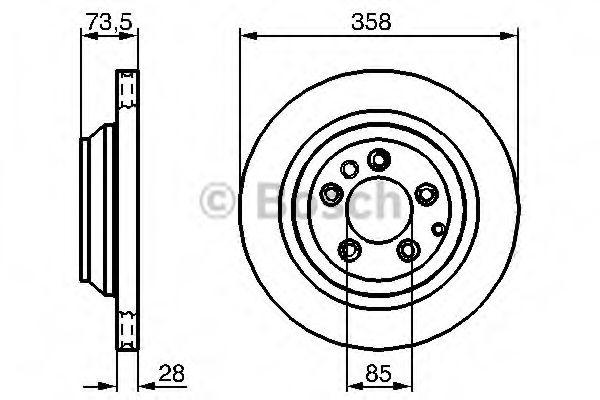 Тормозной диск BOSCH арт. 0986479259