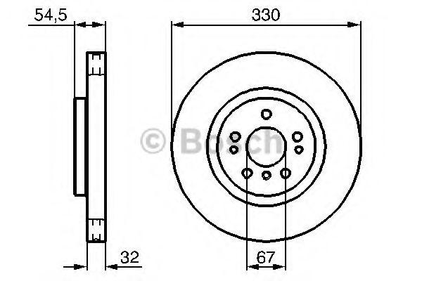 Диск гальмівний Bosch 0986479269