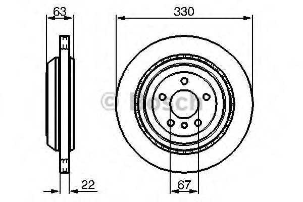 Тормозной диск BOSCH арт. 0986479285