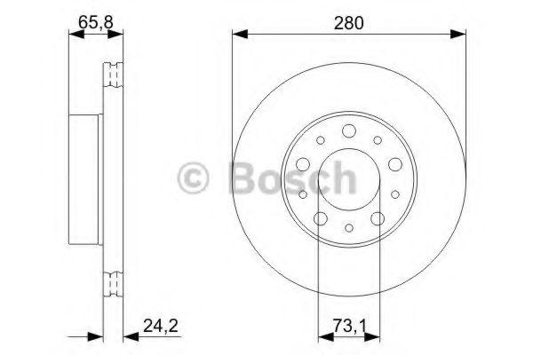 Тормозной диск BOSCH арт. 0986479297