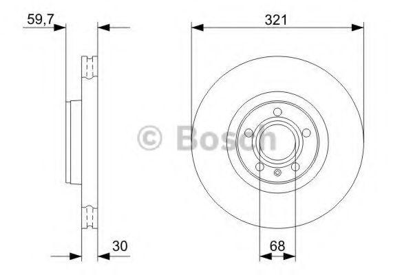 Тормозной диск BOSCH арт. 0986479300