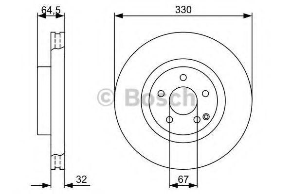 Диск гальмівний Bosch 0986479332