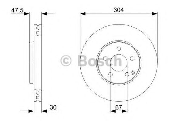 Тормозной диск BOSCH арт. 0986479333