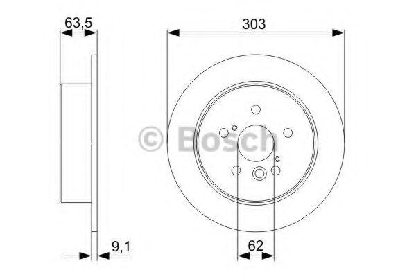 Диск гальмівний Bosch 0986479338