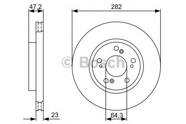 Тормозной диск BOSCH арт. 0986479365