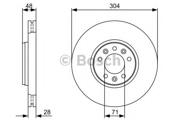 Диск гальмівний Bosch 0986479380