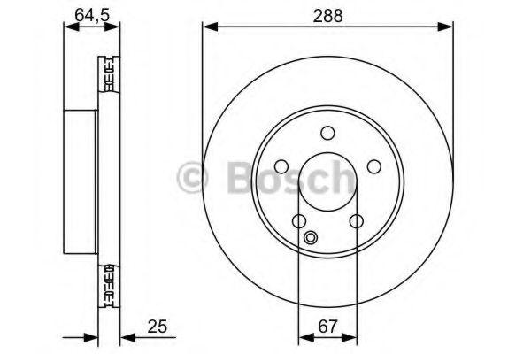 Диск гальмівний Bosch 0986479406