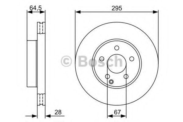 Тормозной диск BOSCH арт. 0986479407