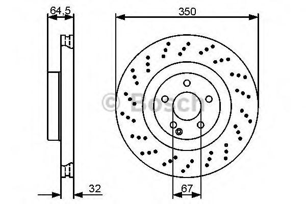 Диск гальмівний Bosch 0986479412