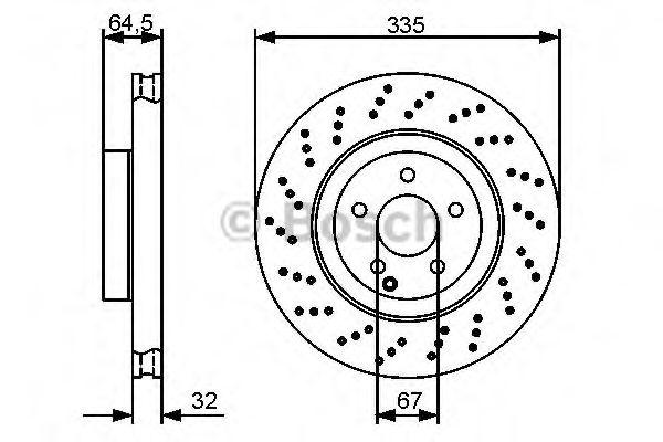 Тормозной диск BOSCH арт. 0986479413