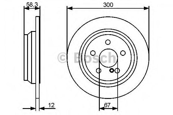 Тормозной диск BOSCH арт. 0986479414
