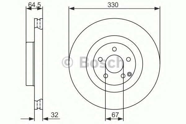 Диск гальмівний Bosch 0986479415