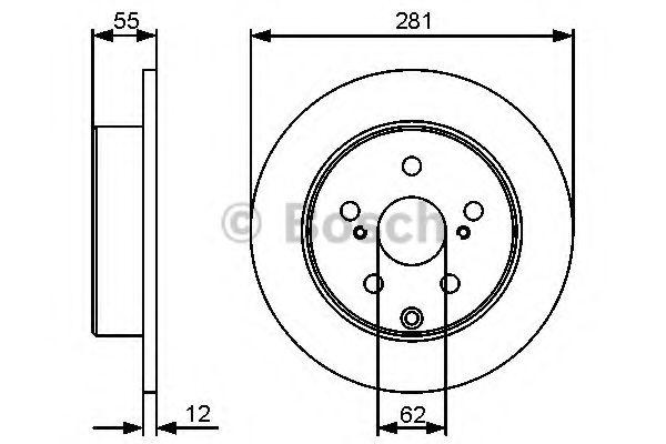 Тормозной диск BOSCH арт. 0986479419