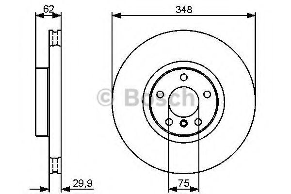 Диск гальмівний Bosch 0986479436
