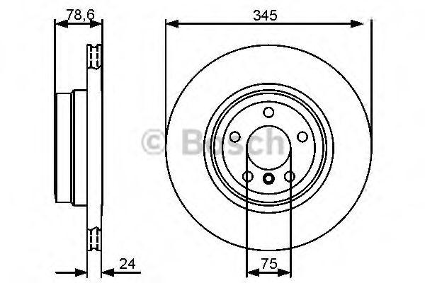 Тормозной диск BOSCH арт. 0986479443