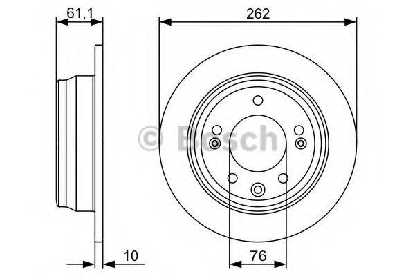 Тормозной диск BOSCH арт. 0986479508