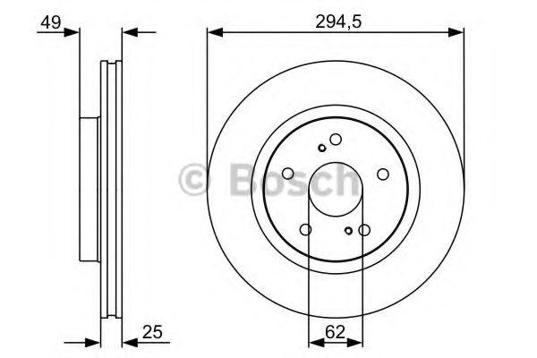 Тормозной диск BOSCH арт. 0986479559
