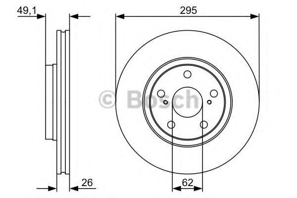Тормозной диск BOSCH арт. 0986479560