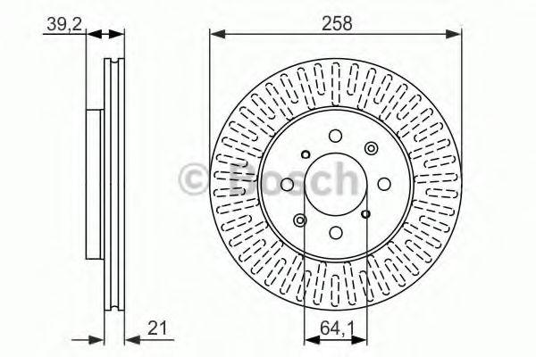 Диск гальмівний Bosch 0986479594