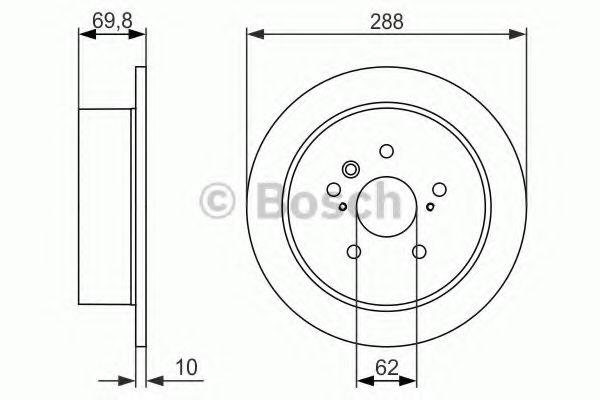 Тормозной диск BOSCH арт. 0986479614
