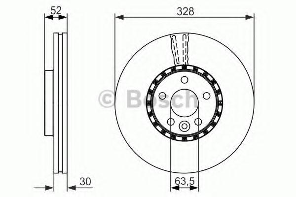 Тормозной диск BOSCH арт. 0986479621