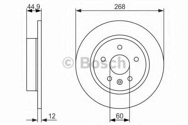 Тормозной диск BOSCH арт. 0986479645
