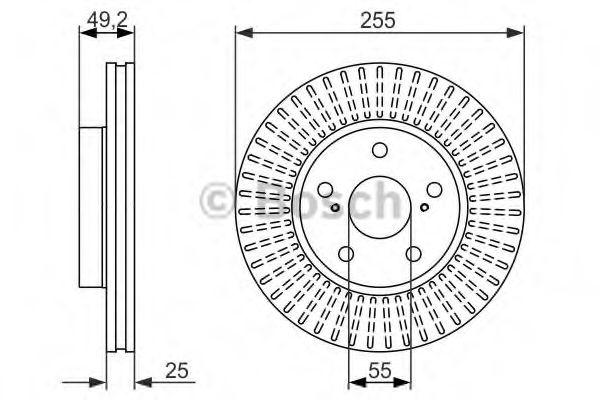 Тормозной диск BOSCH арт. 0986479663