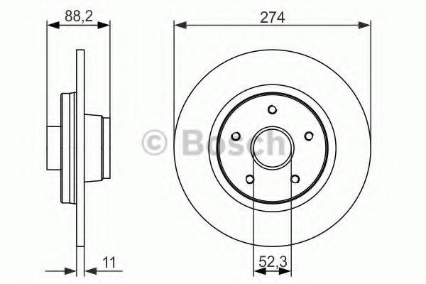 Тормозной диск BOSCH арт. 0986479695