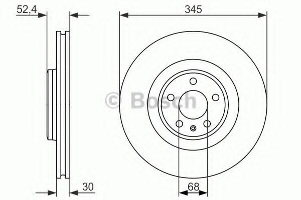 Тормозной диск BOSCH арт. 0986479747