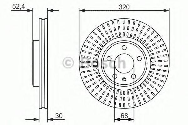 Тормозной диск BOSCH арт. 0986479753