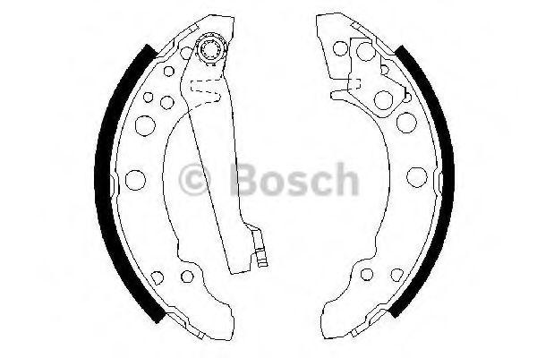 Комплект тормозных колодок BOSCH арт. 0986487002